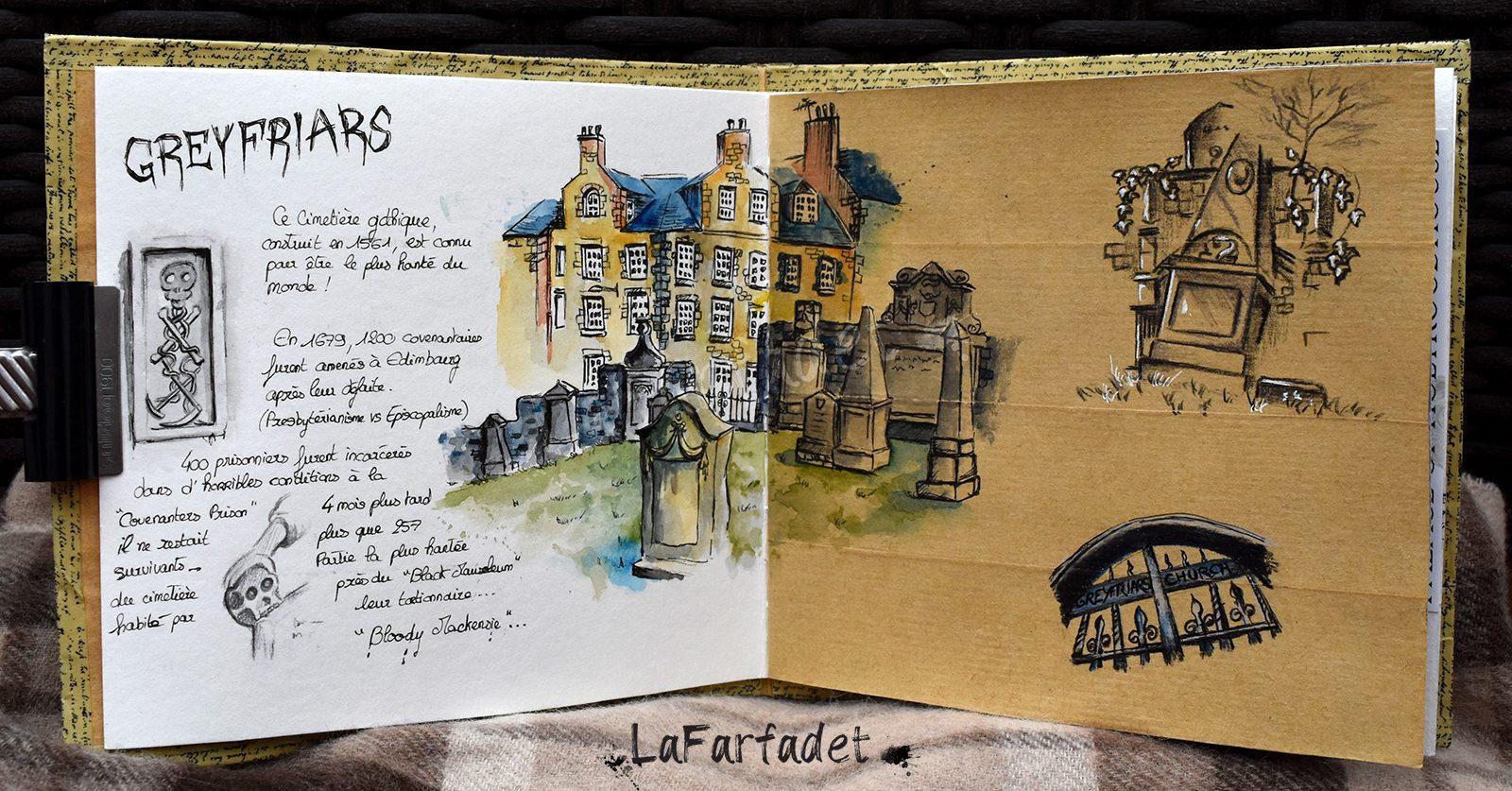 2019 Carnet de voyage Edimbourg Greyfriars Elodie Vasseur Lafarfadet