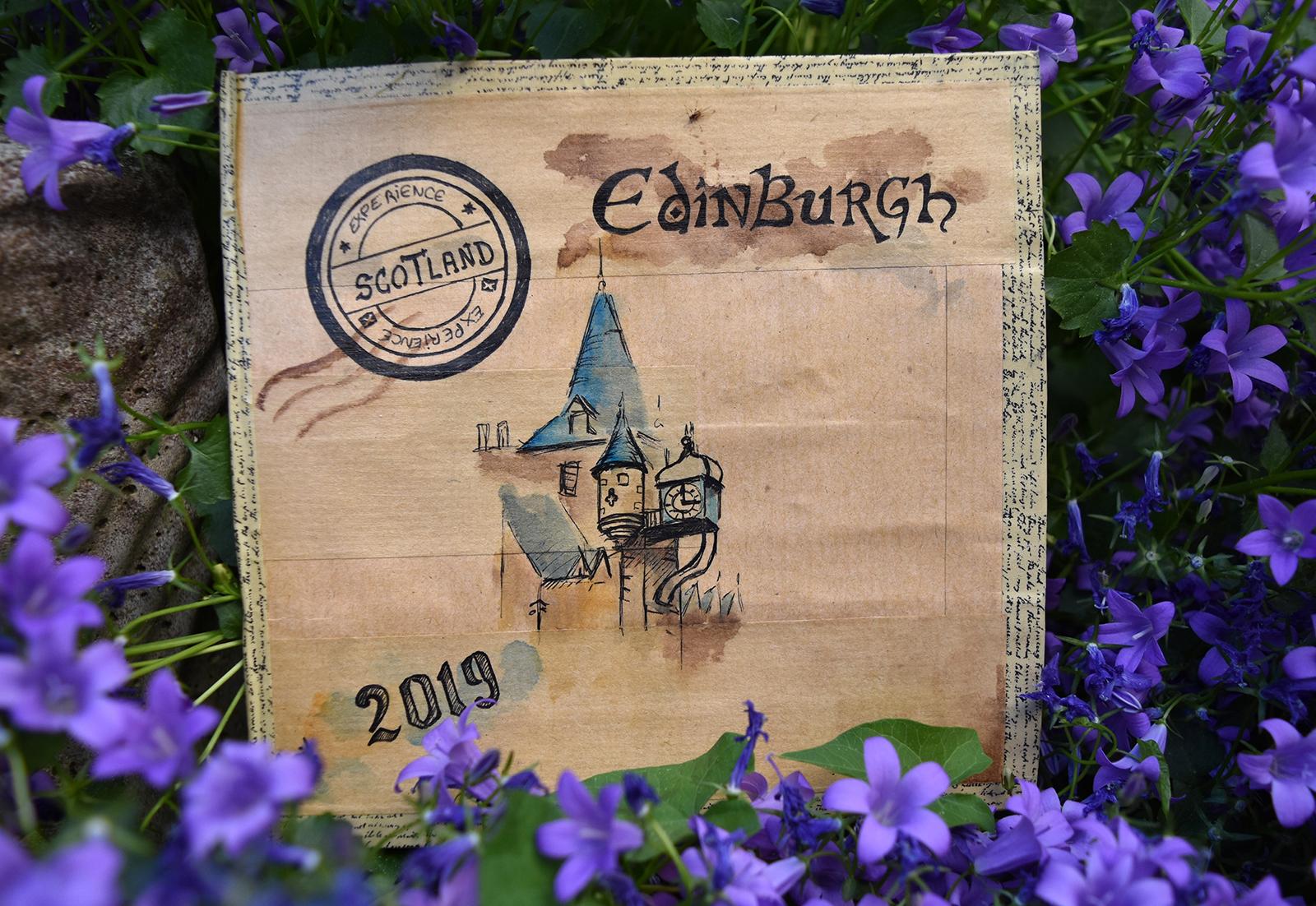 2019 Carnet de voyage Edimbourg_couverture - Lafarfadet Elodie Vasseur