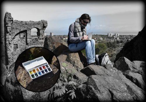 2019 carnet de voyage Edimbourg l'artiste Lafarfadet